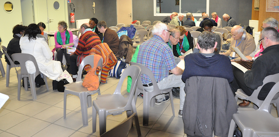 groupes de dialogues, famille du Prado à Lourdes, nov. 2016