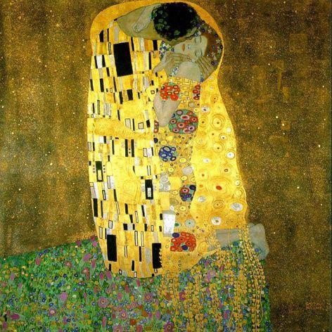 Klimt - Le baiser - 180 x 180 cm - 1909