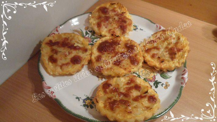 Tartelettes poireaux, lardons et mozzarella
