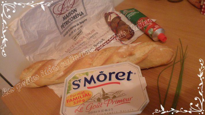 Toasts au chorizo
