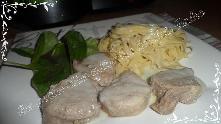 Filet mignon de porc sauce Roquefort