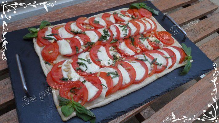Tarte tomates / mozzarella