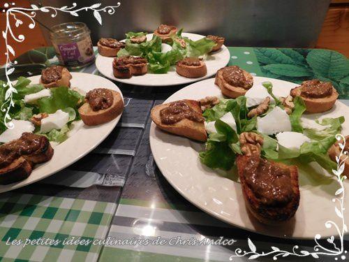 Salade de toasts sans gluten à la cèpenade &amp&#x3B; ail rose