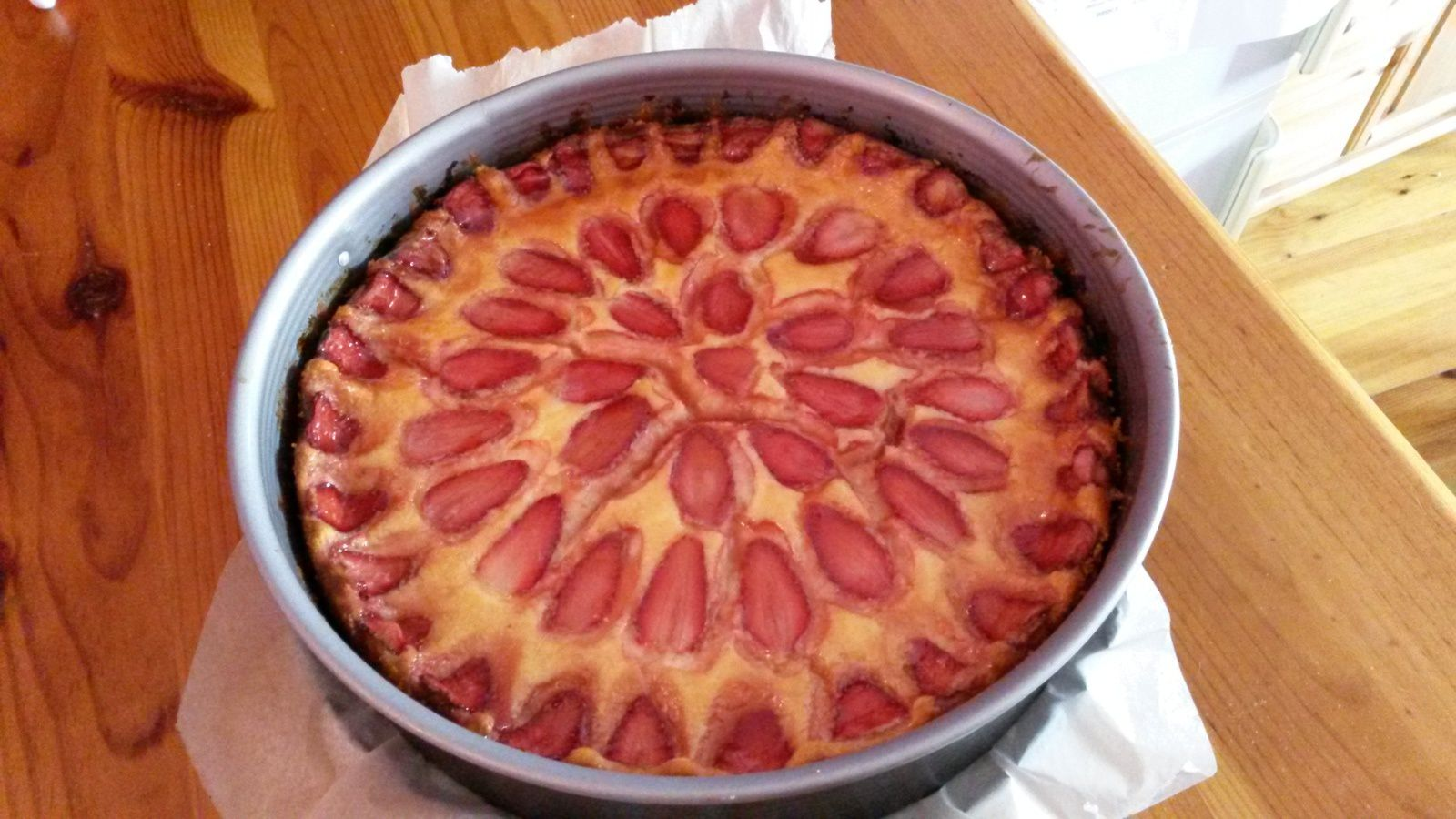 cheesecake fraises cuites ricotta