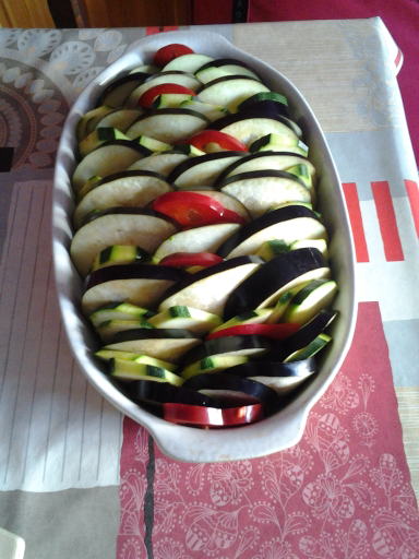 Tian Aubergines, Courgettes, Poivrons