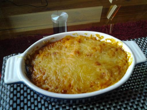 Purée gratinée patate douce &amp&#x3B; butternut