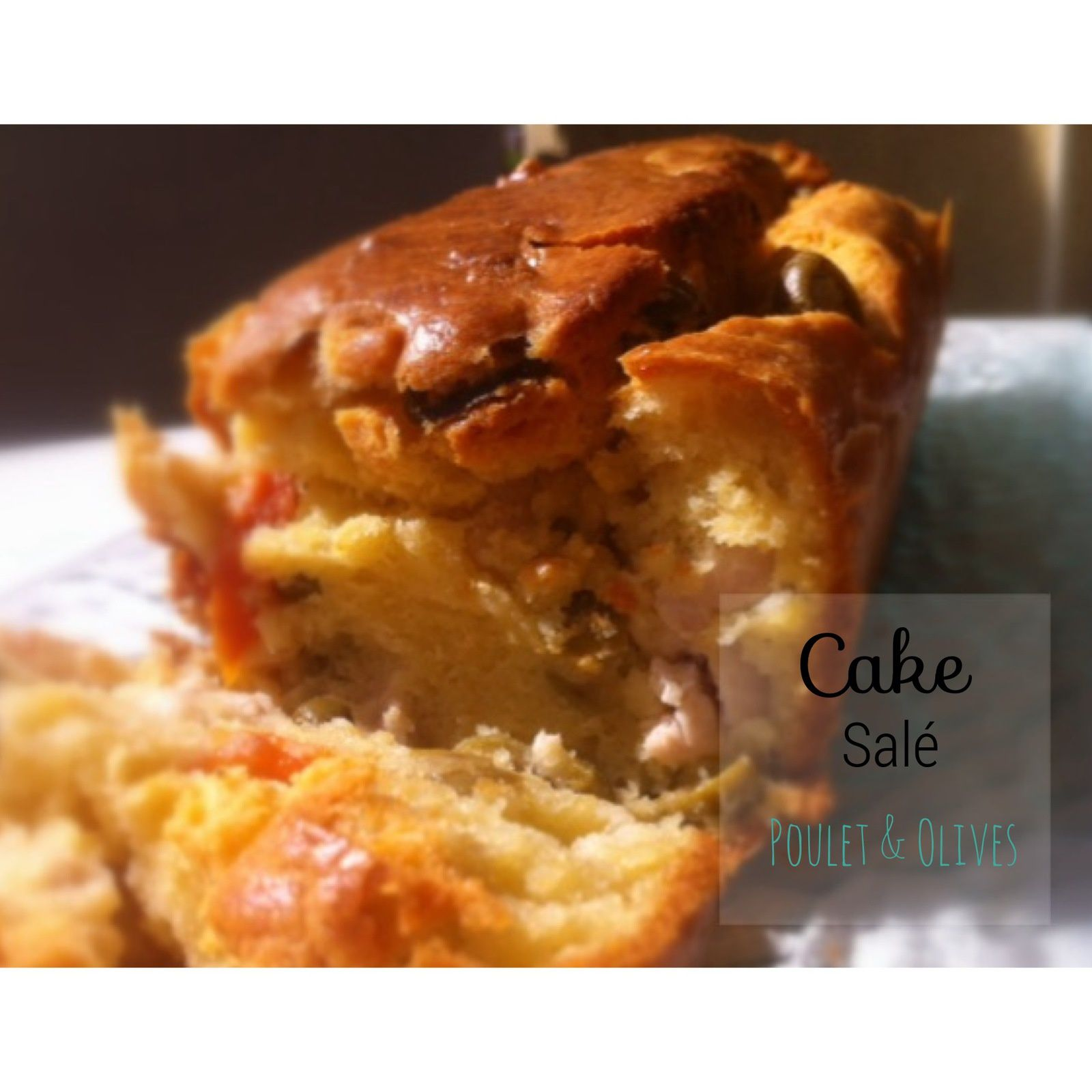 Cake salé olive, poulet &amp&#x3B; fromage