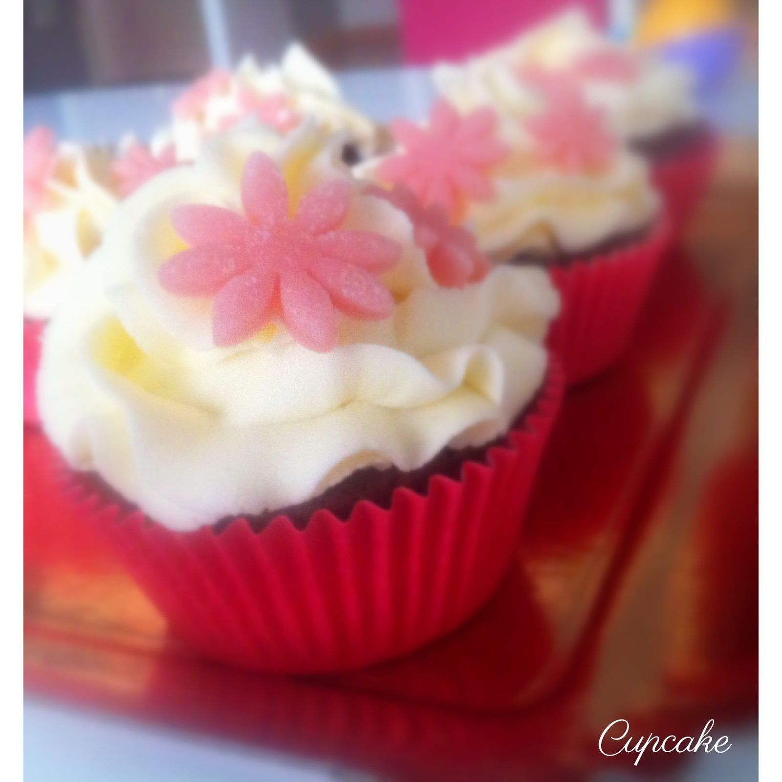 Cupcake Chocolat glaçage Vanille cream cheese ♥