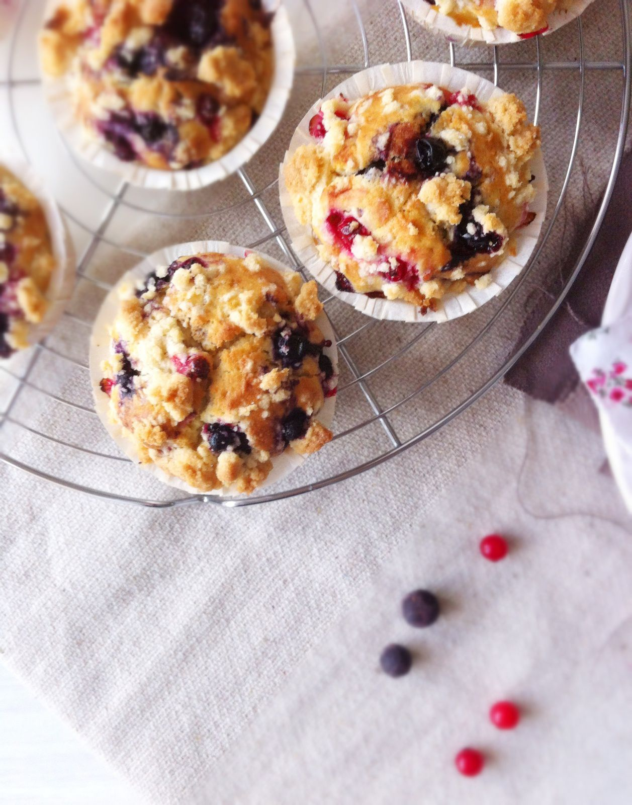 Muffin aux fruits rouges &amp&#x3B; crumble ♥ Comme à Disney !
