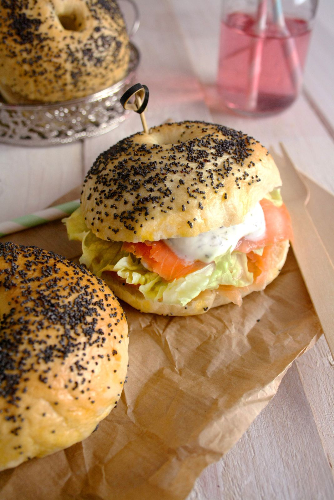 Pain bagel maison : saumon &amp&#x3B; cream cheese
