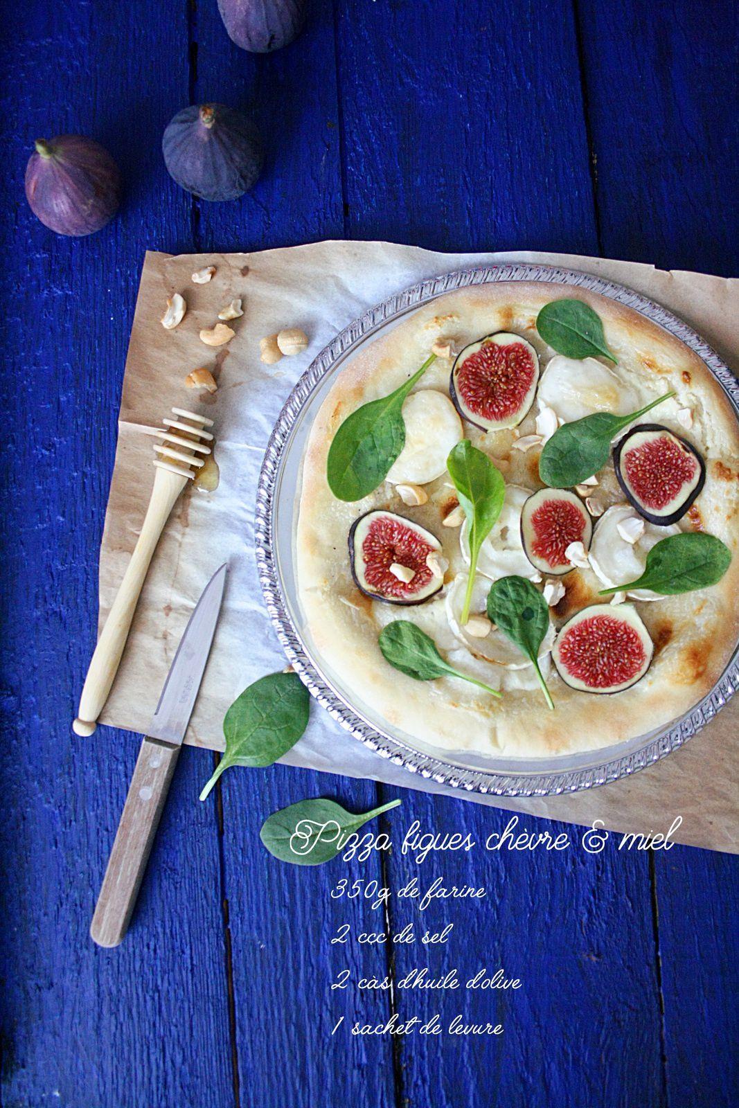 Pizza figue chèvre &amp&#x3B; miel