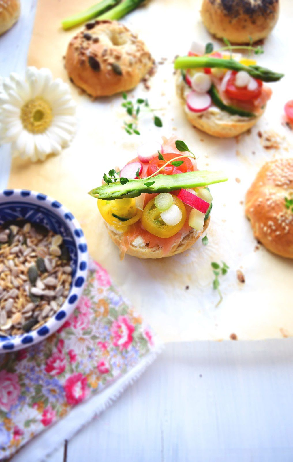 Bagel de printemps saumon | cream cheese