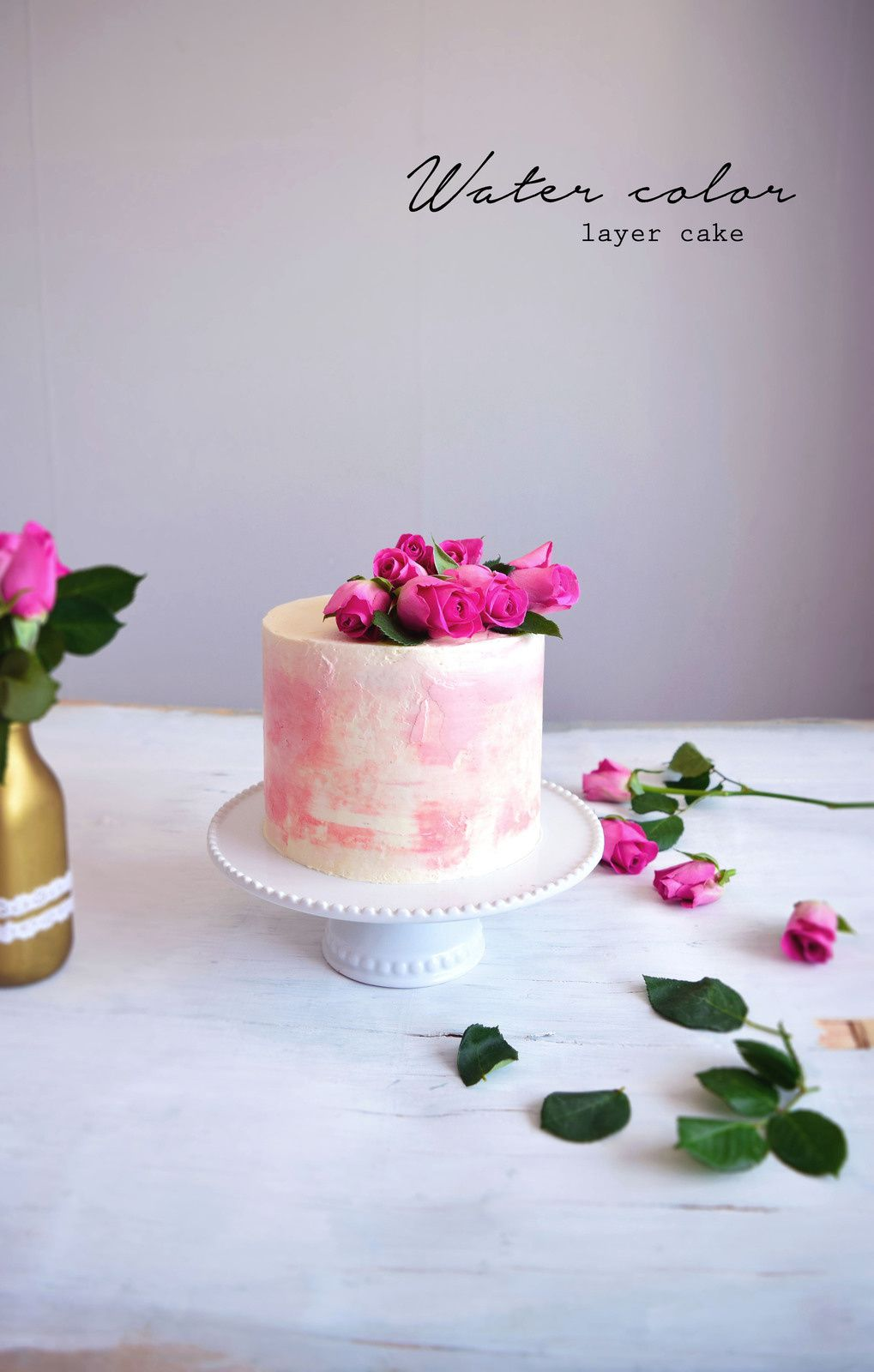 Water color layer cake