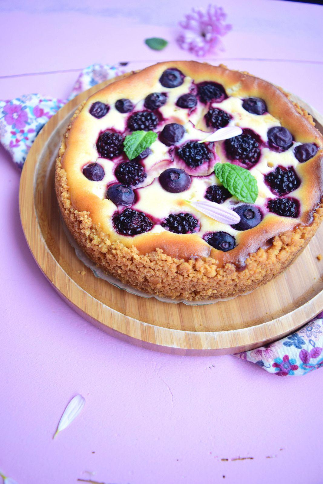 Cheesecake chocolat blanc et fruits noirs