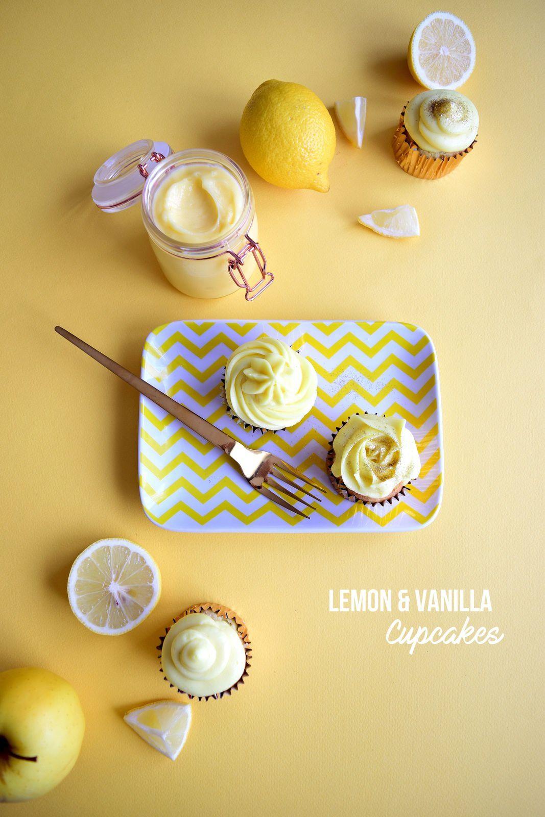 Cupcakes vanille et citron