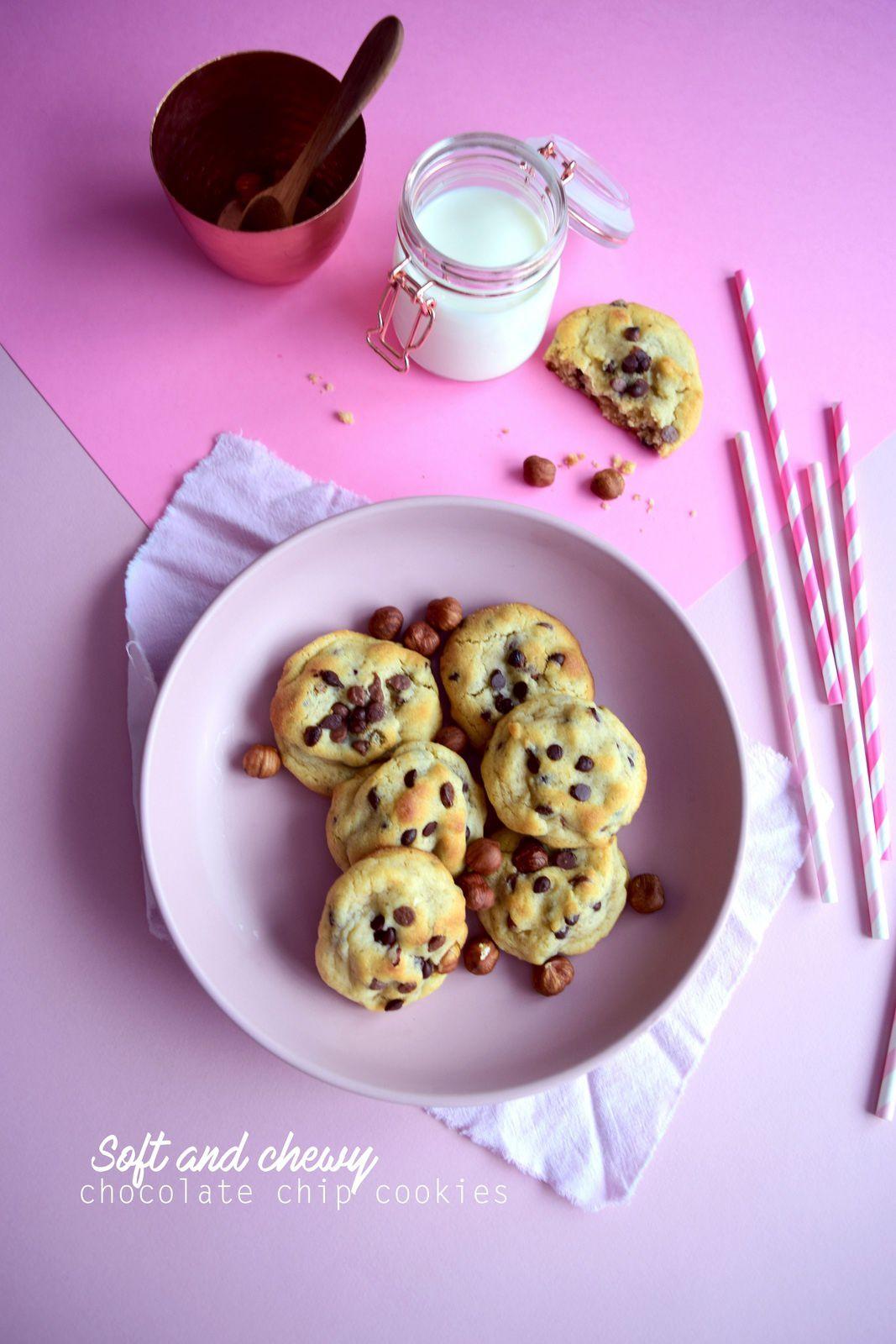 Cookies moelleux pépites de chocolat et noisettes