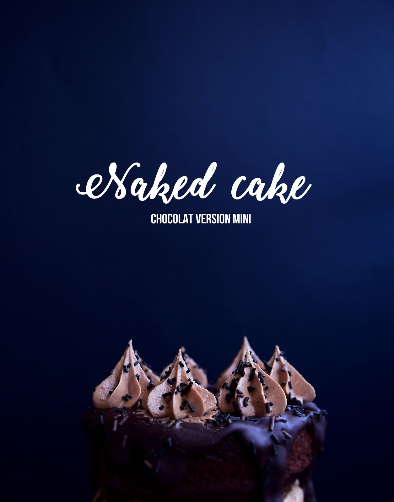 Naked cake au chocolat
