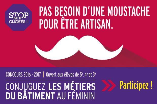 Concours &quot&#x3B;conjuguez les métiers du bâtiment au féminin !&quot&#x3B;