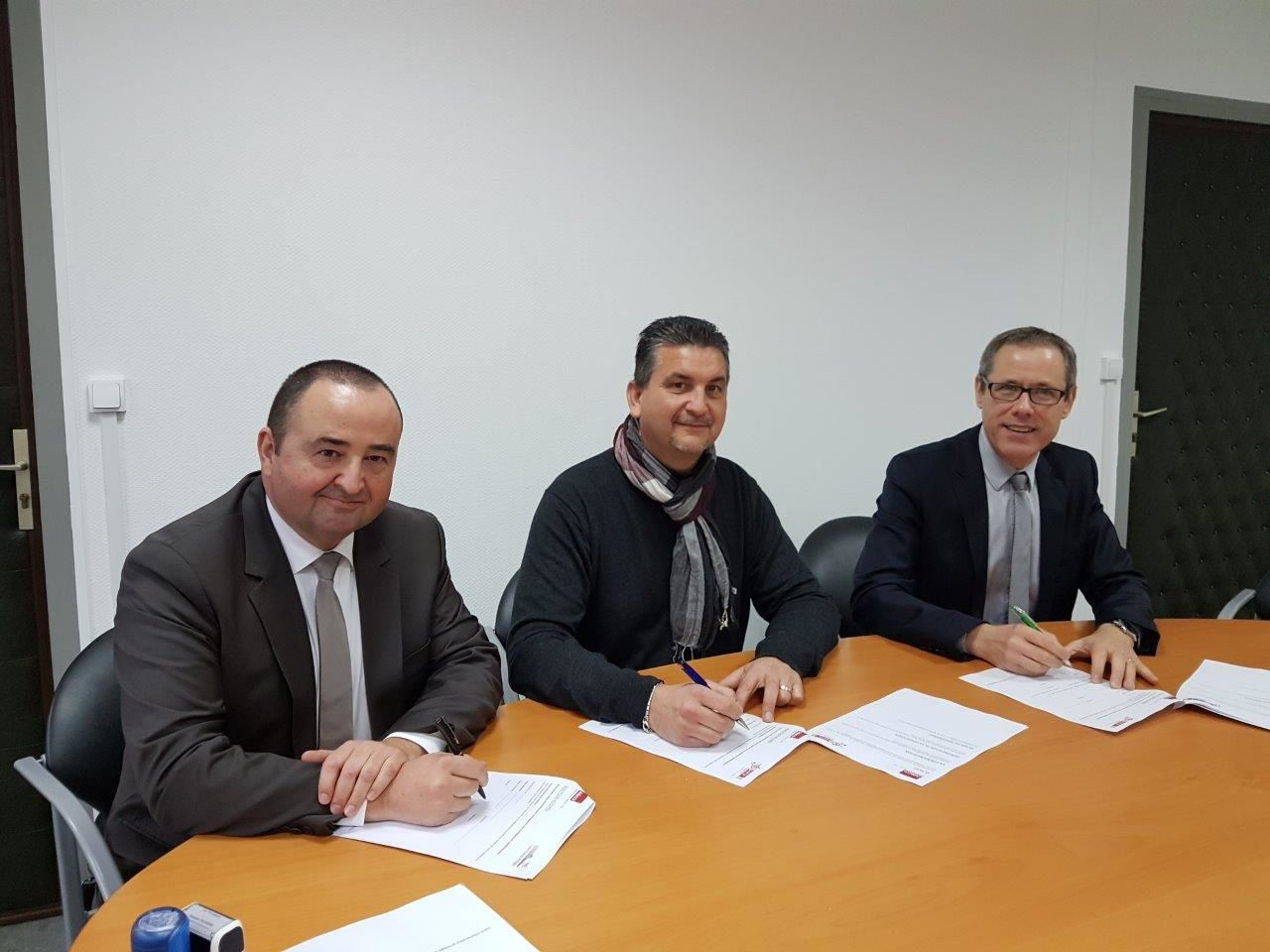 Signature de conventions entre le lycée Arago, le Greta de la Marne et Adecco