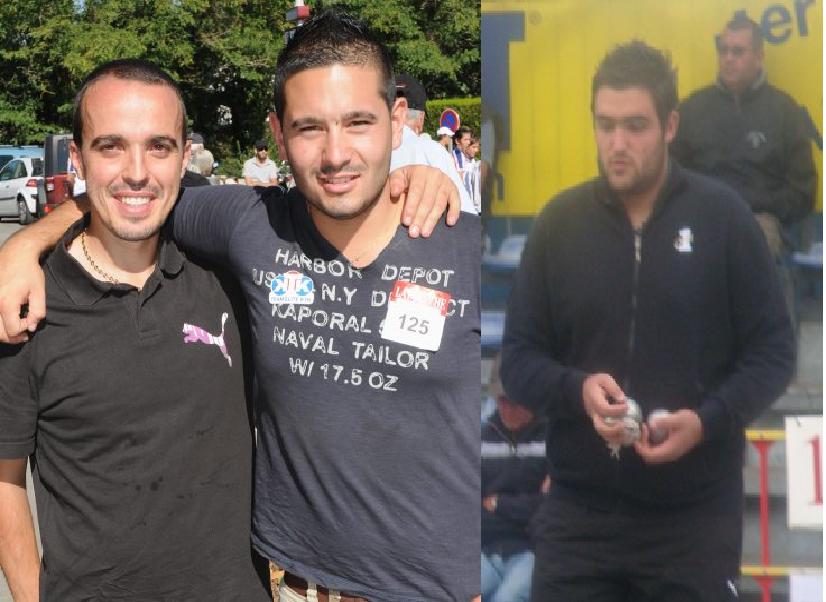 1er: Ludovic Labrue - Kevin Lellouche - Vianney Moureaux ( 3 jeunes joueurs qui ont déja inscrit leurs noms dans le circuit de la pétanque nationale )