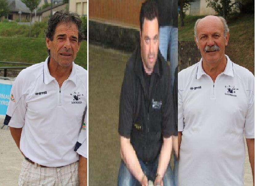 5eme: José Silva - Michel Ponturlas - Yves Datas ( Les 2 champions de ligue vétérans, associé au canonié Michel, Attention !! )