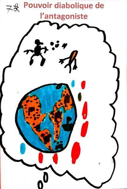 Il veut tuer Supercarotte et contaminer toute la Terre avec des bonbons.