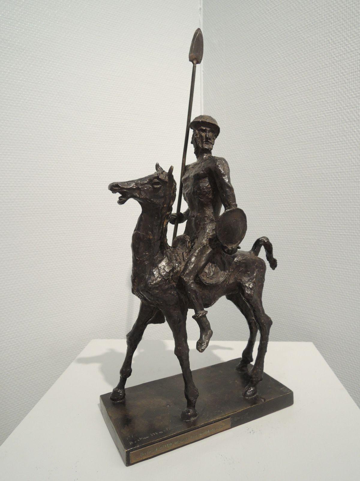 Don Quichotte à cheval. Berthe Martinie.