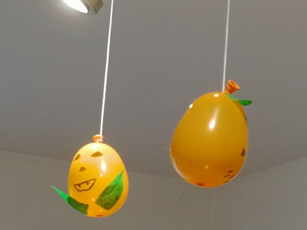 Ballon baudruche citrouille