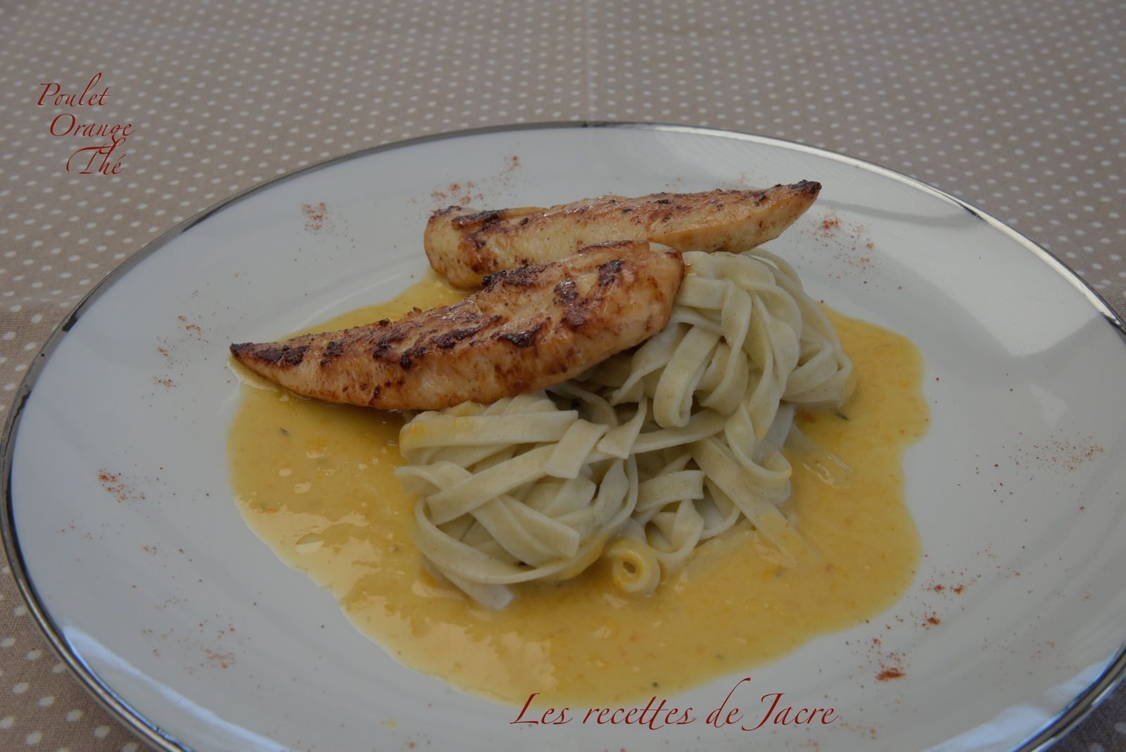 Aiguillettes de poulet sauce à l'orange