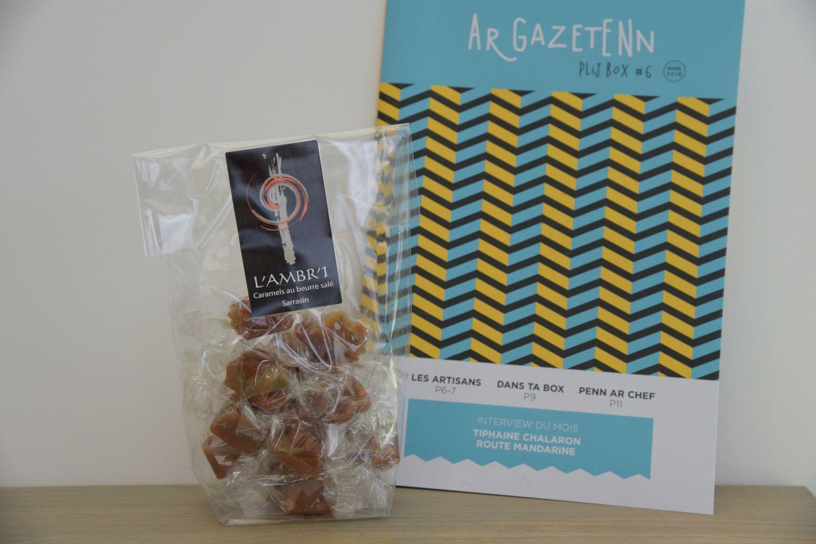 des caramels au beurre salé Sarrasin de L'Ambri à Tréguier
