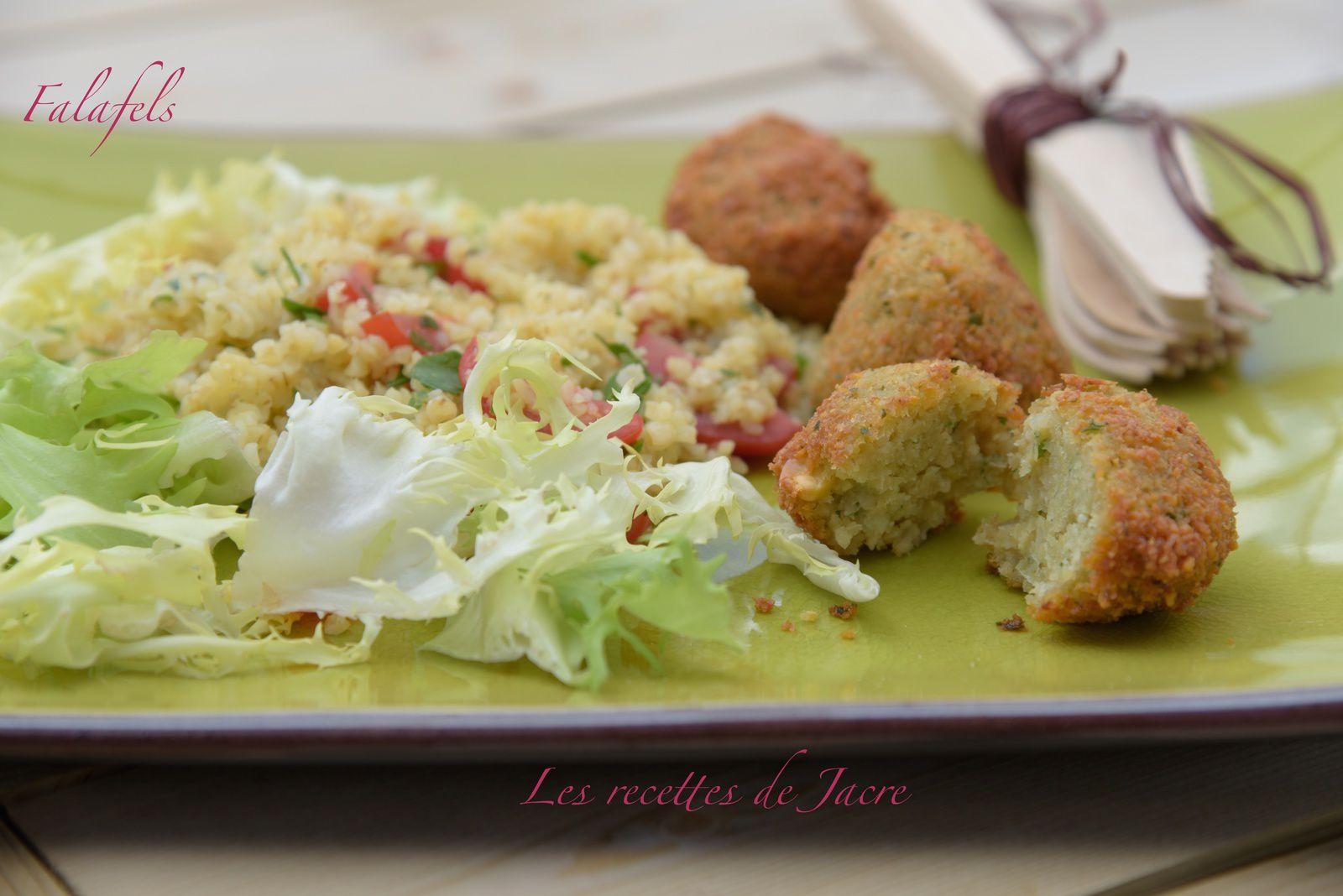 Salade de boulgour et falafels
