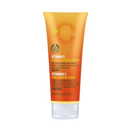 Exfoliant nettoyant visage à la vitamine C de The Body Shop demoisailesfaitdesrevues.over-blog.com Méga revue The Body Shop