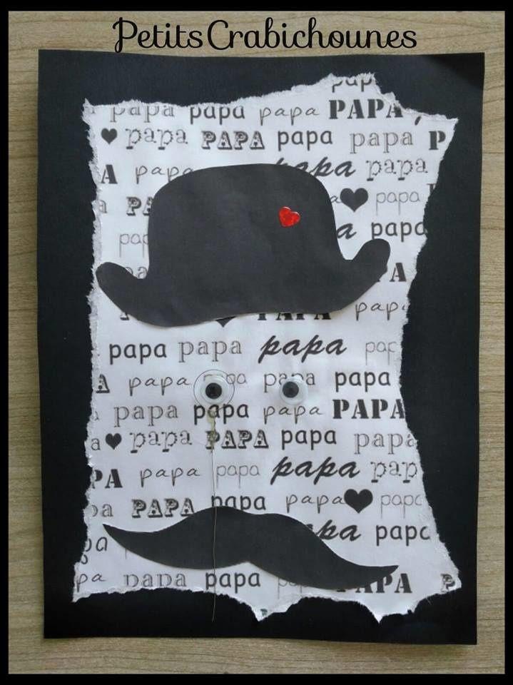 Carte fête des Pères (version PAPY disponible) avec empreinte main au dos. - Petits Crabichounes