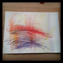 Dessiner/peindre avec la pluie. Crayons aquarellables et eau.