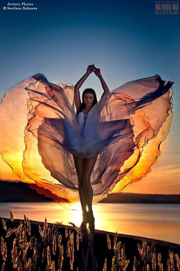 Femme - Danse - Voiles - Soleil - Pictures