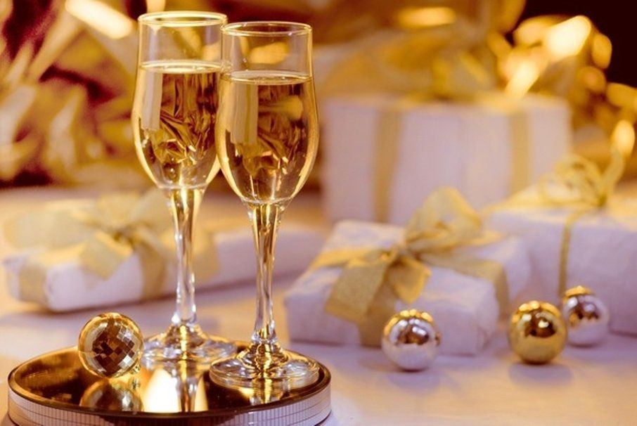 Table - Déco - Noël 2015 - Verres- Champagne - Wallpaper - Free
