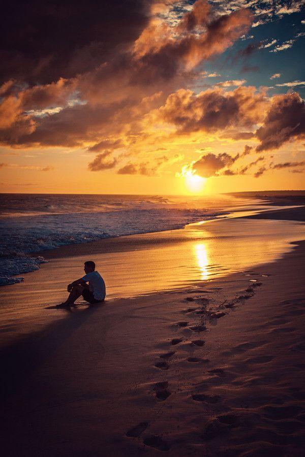 Paysage - Plage - Coucher de soleil - Picture - Free