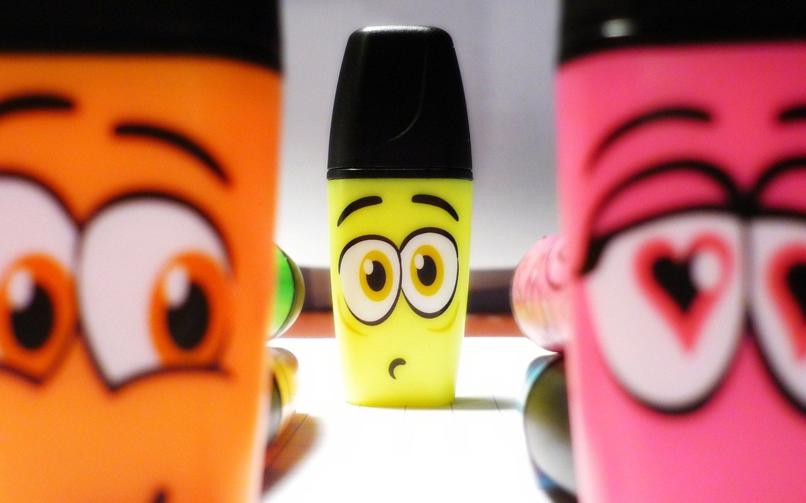 Stabilo - Couleurs - Yeux - Fluo - Wallpaper - Free