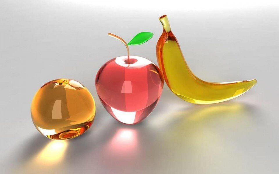 Fruits - Verre - 3D - Wallpaper - Free