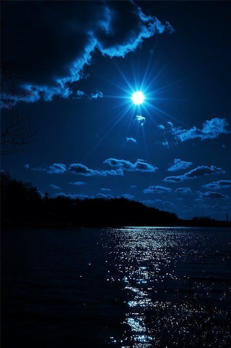 Paysage - Nuit - Lune - Picture - Free