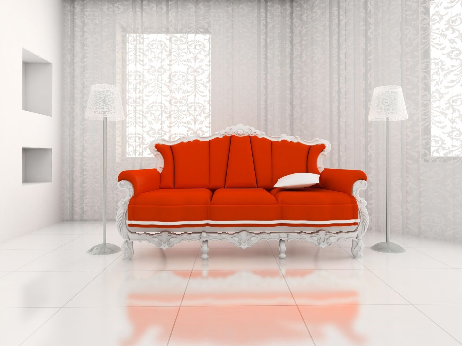 Décoration - Canapé - Rouge - Maison - Wallpaper - Free