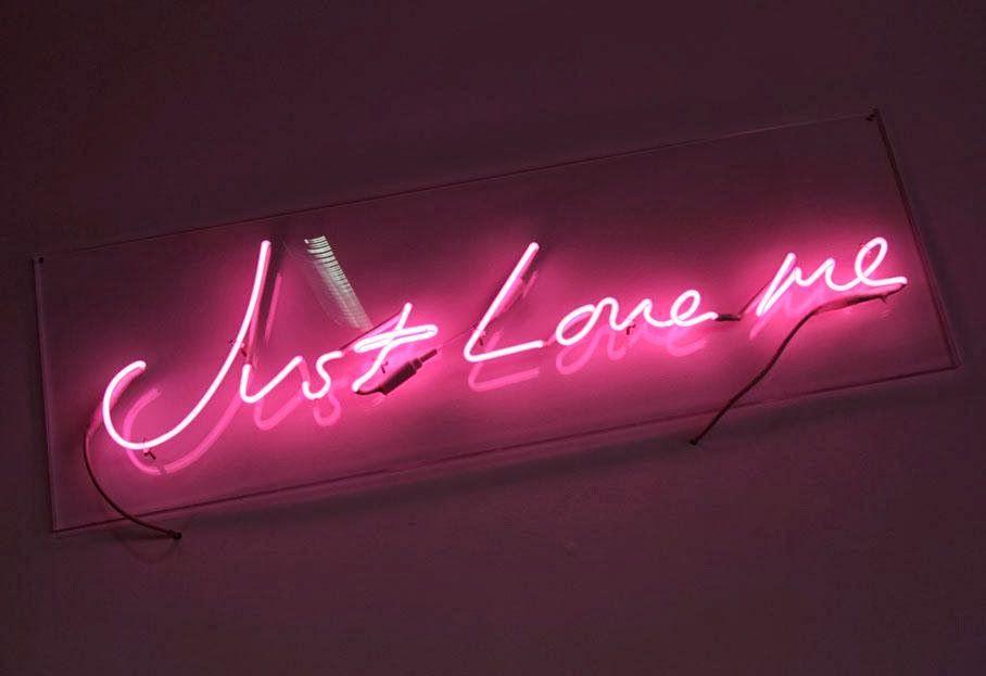 Just Love Me - Néon - Pink - Wallpaper - Free