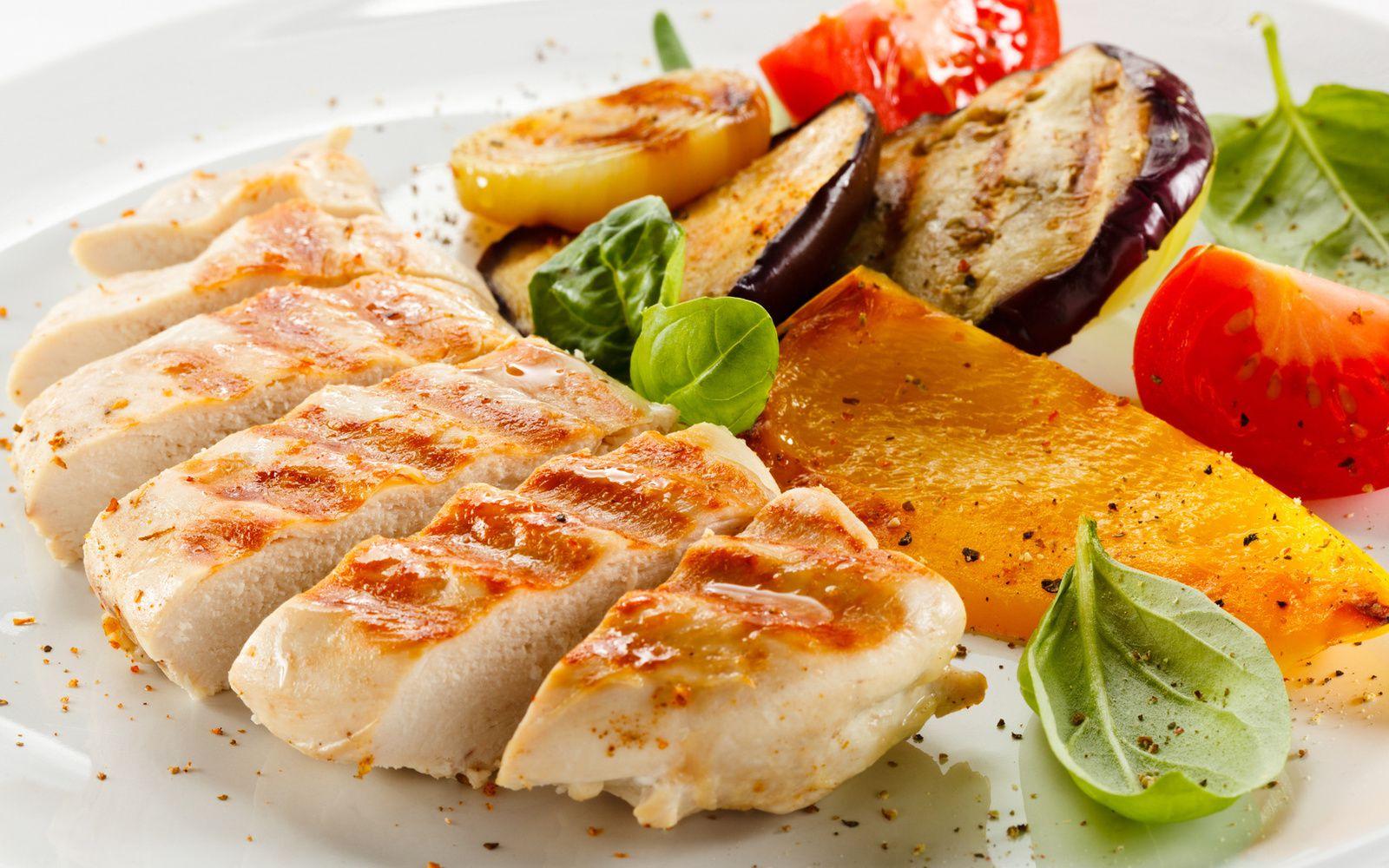 Poulet - Légumes - Assiette - Nourriture - Wallpaper - Free