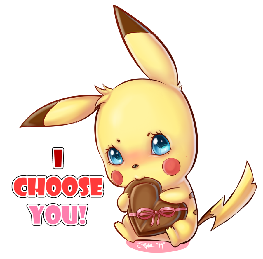 I choose you - Pokémon - Chocolat - Coeur - Render-Tube - Gratuit