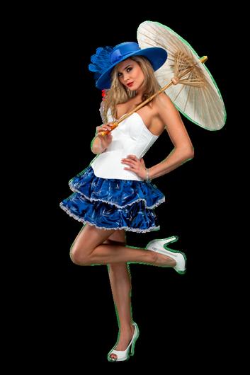 Femme - Blonde - Ombrelle - Render-Tube - Gratuit