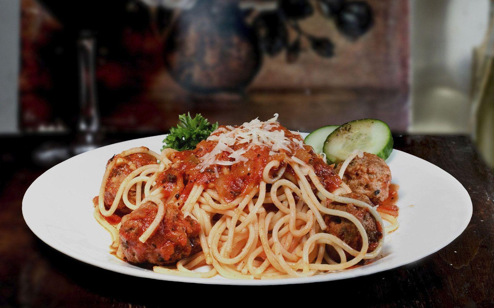 Bon appétit - Spaghettis - Boulettes - Viande - Wallpaper - Free