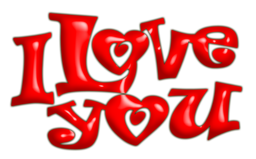 I Love you - Amour - Render - Tube - Gratuit
