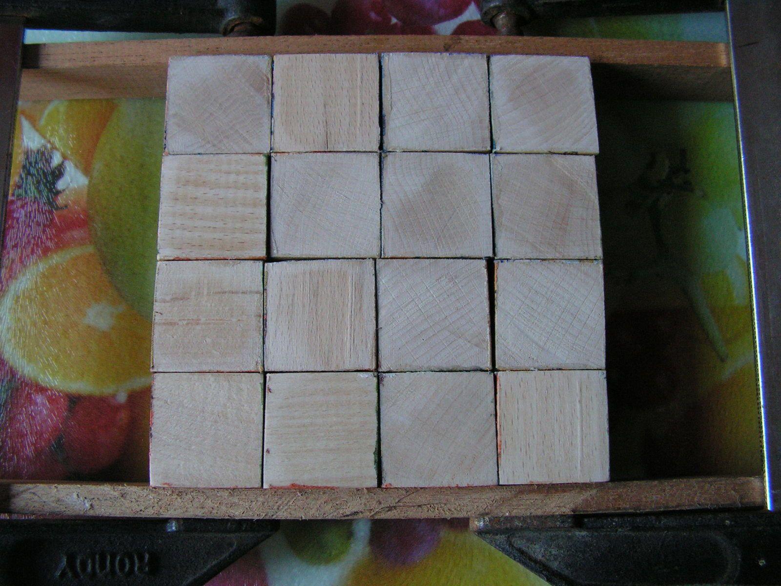 Cubes en bois pour Juliette