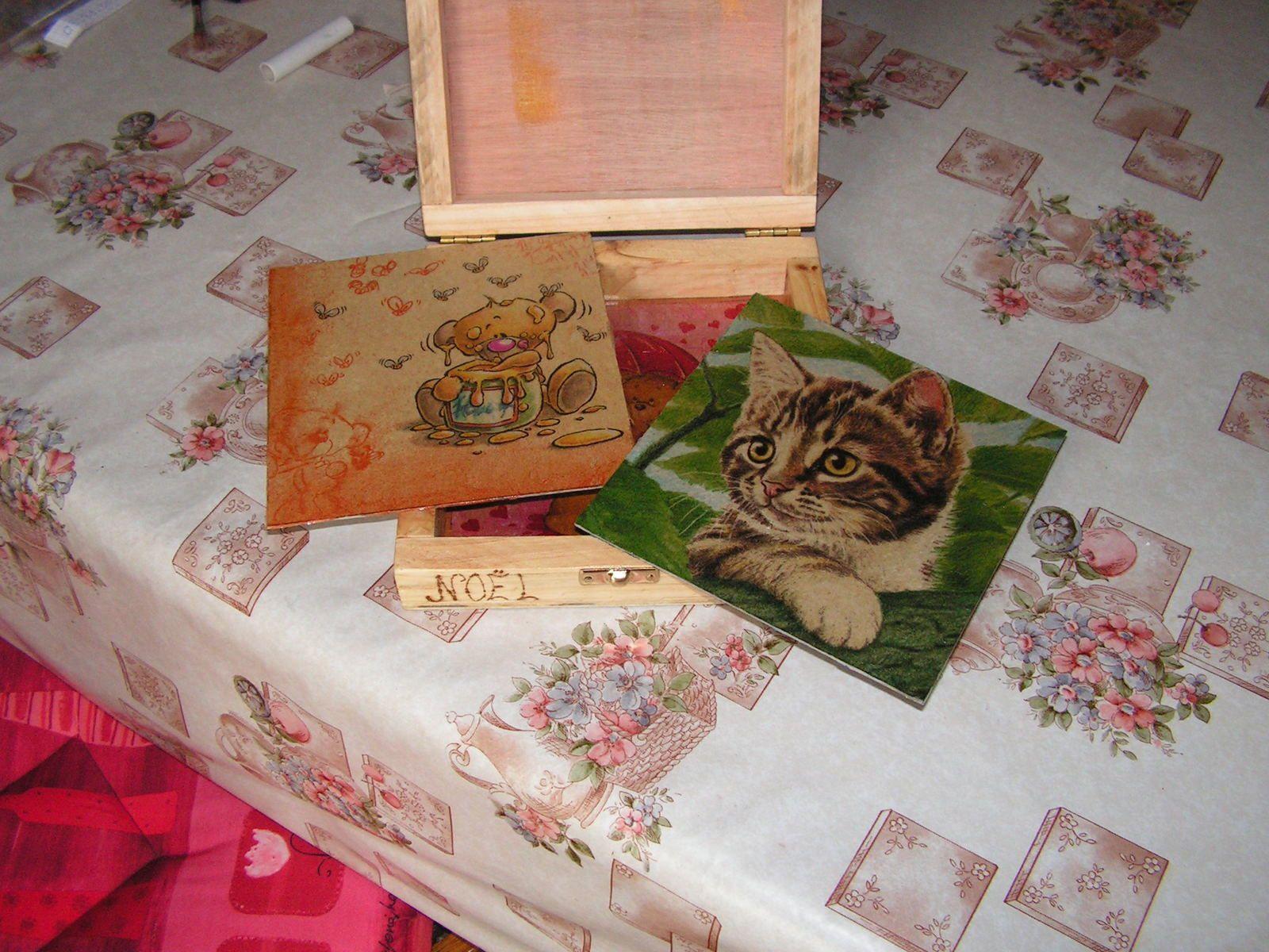 Boîte pour cubes en bois
