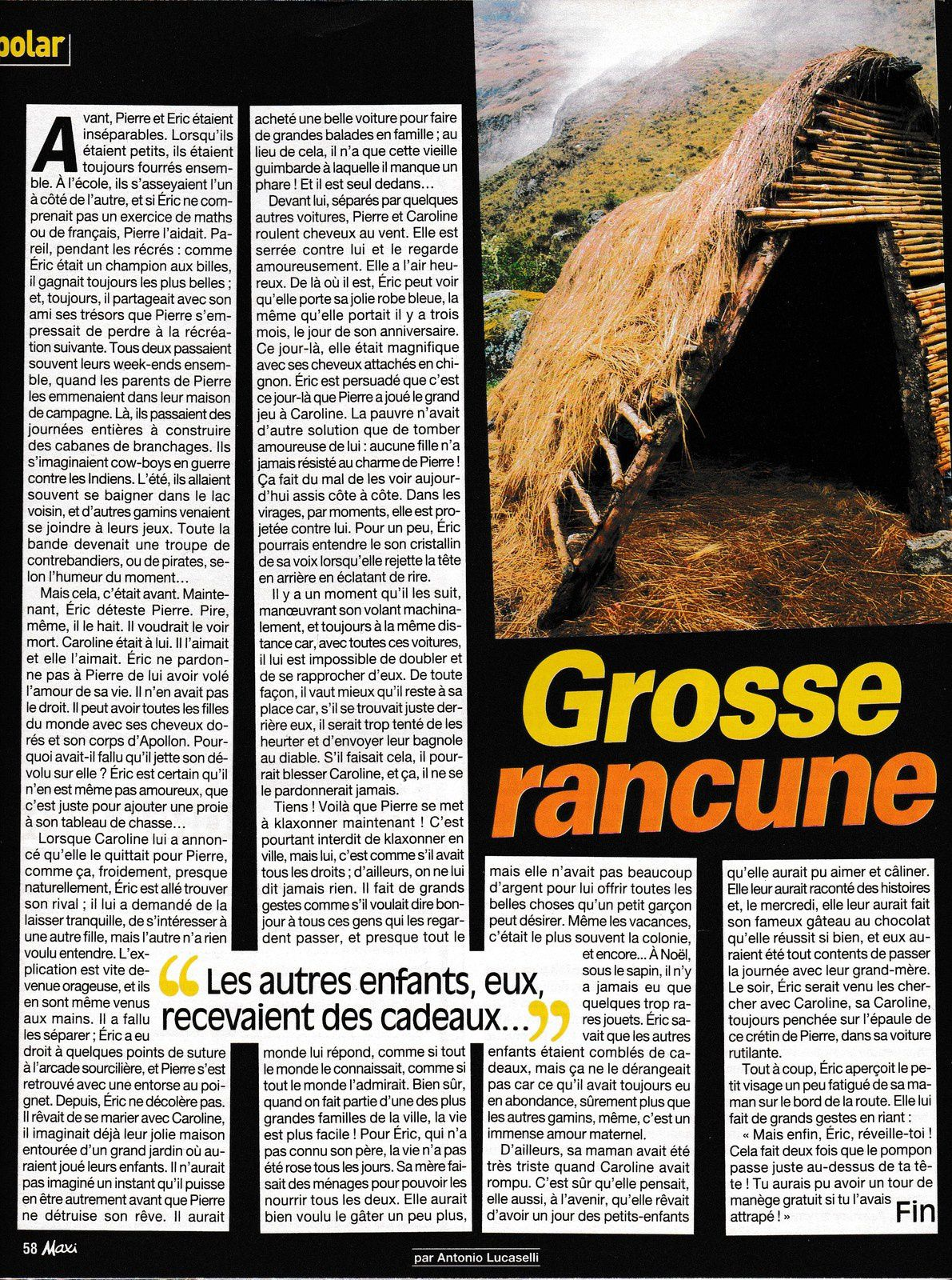 lecture : Grosse rancune